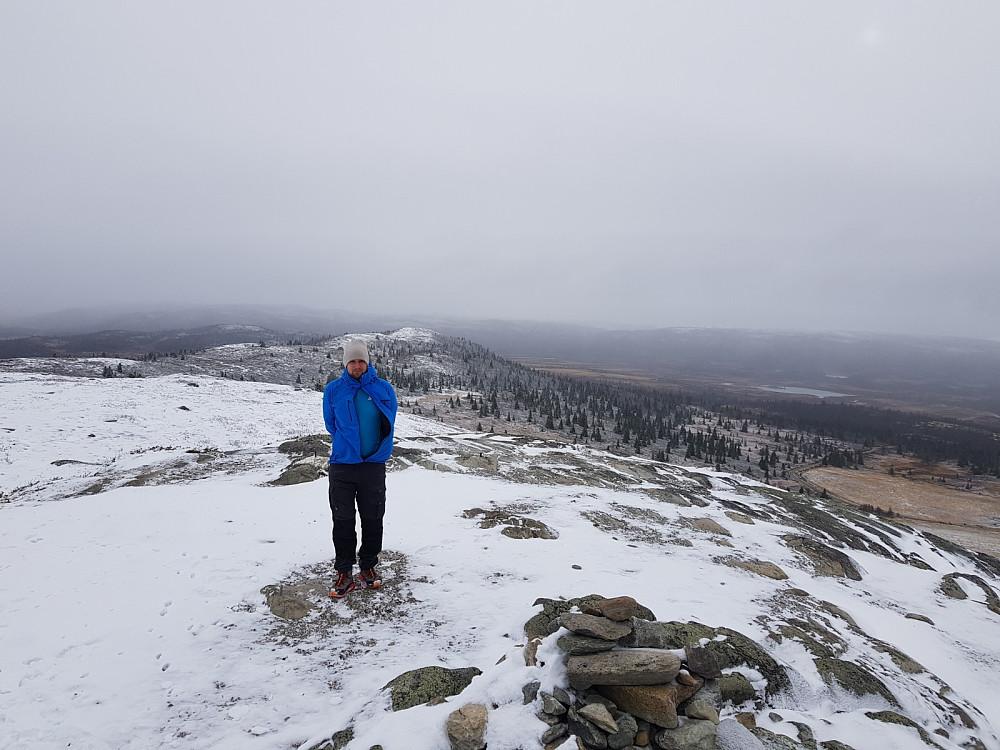 Kaldt på toppen av Synhaugen