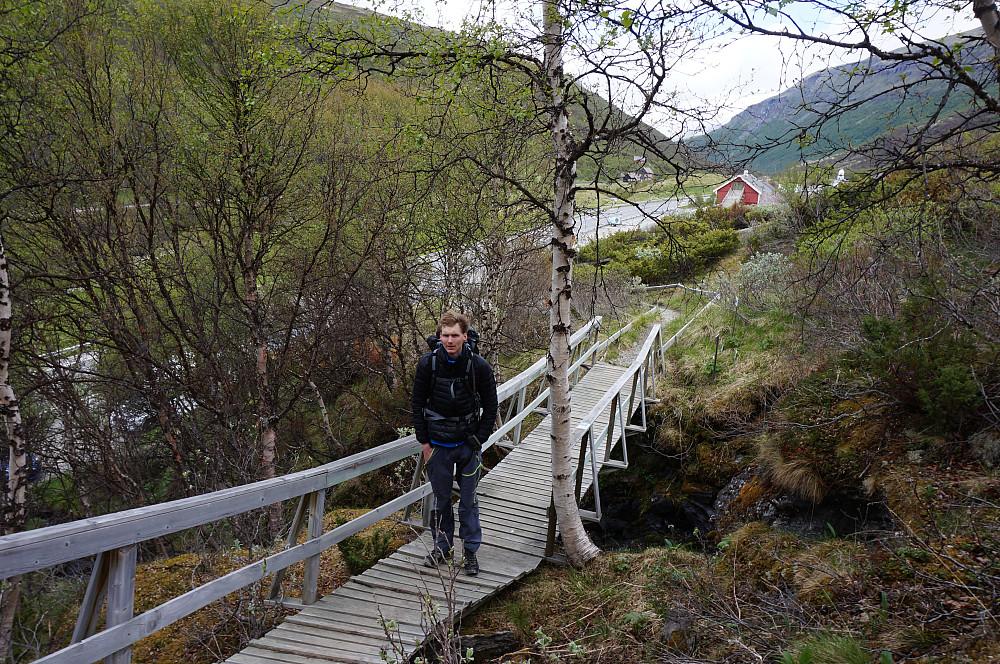 Roar Andre` ved fjellhagen på Kongsvold.