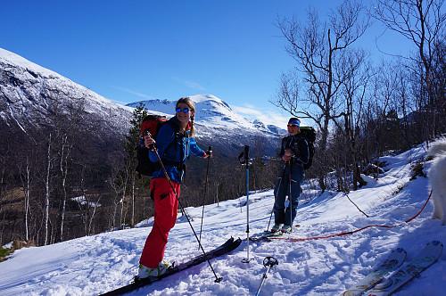 Endelig fikk vi tatt på skia.