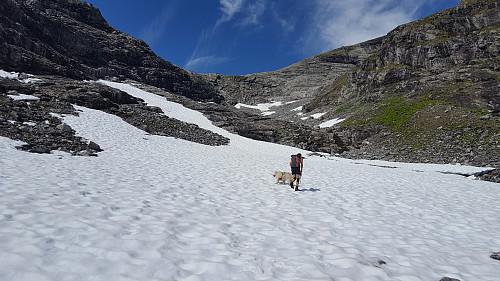 Herlig å gå på fast snø istedet for steinur.
