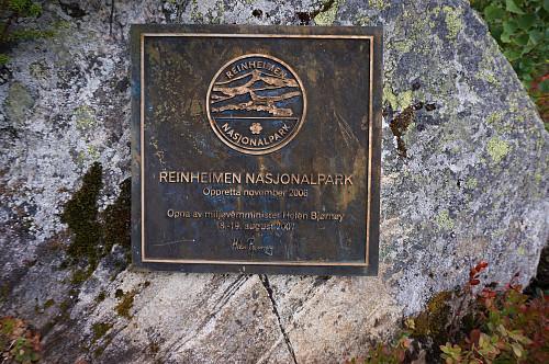 Kommer inn i Reinheimen nasjonalpark.