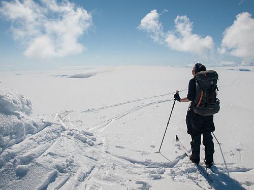 På Nordøstre Folarskardsnuten med utsikt til selve toppen