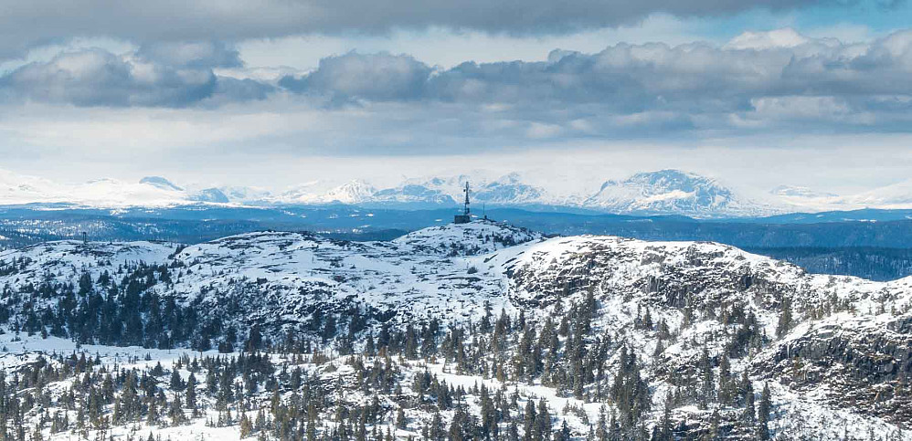 Flott utsikt nordover mot Hemsedalsfjella