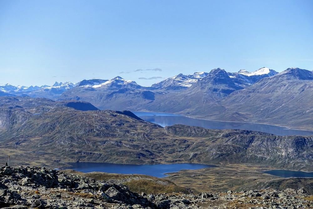 Flott utsikt mot Bygdin og Torfinnstindane - blant mye annet...
