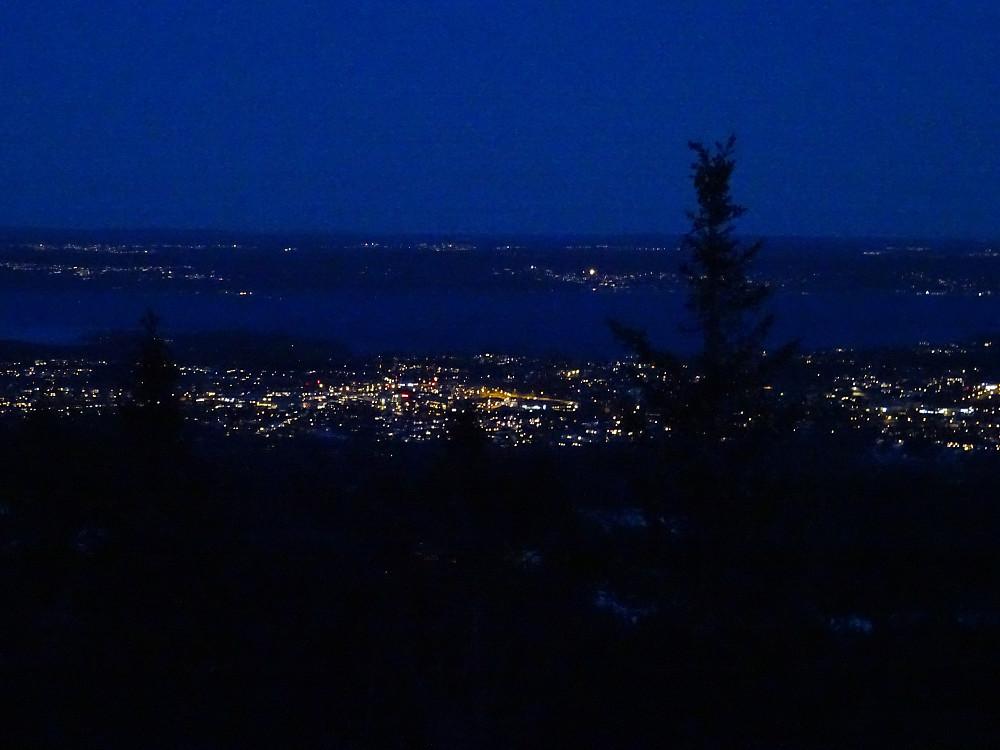 Kveldsutsikt fra Hovedhytta