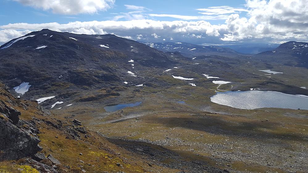 Utsikt mot Sulefjell og Suleskartjernet