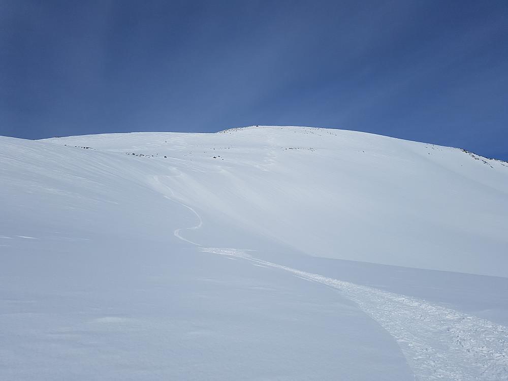 Øvre del av nedkjøringa fra Grånebba