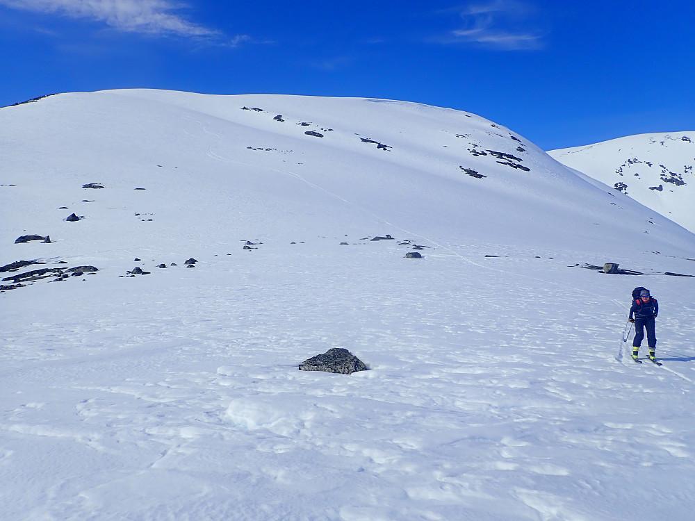 Selv om Kollen ikke er spektakulær, ble det også her noen fine svinger på god snø.