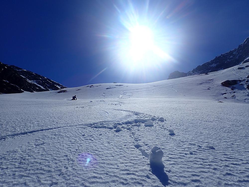 En god del sug i snøen, men enkelte parti, som her var ikke så verst.