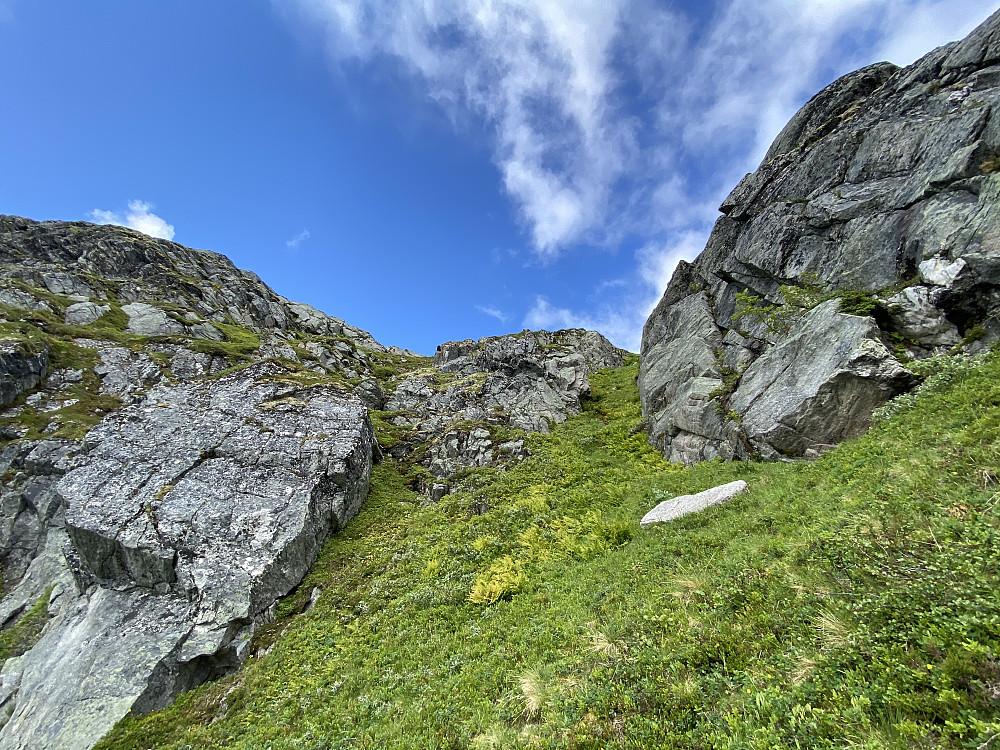 Exitrenns i østsida på Vassdalsfjellet