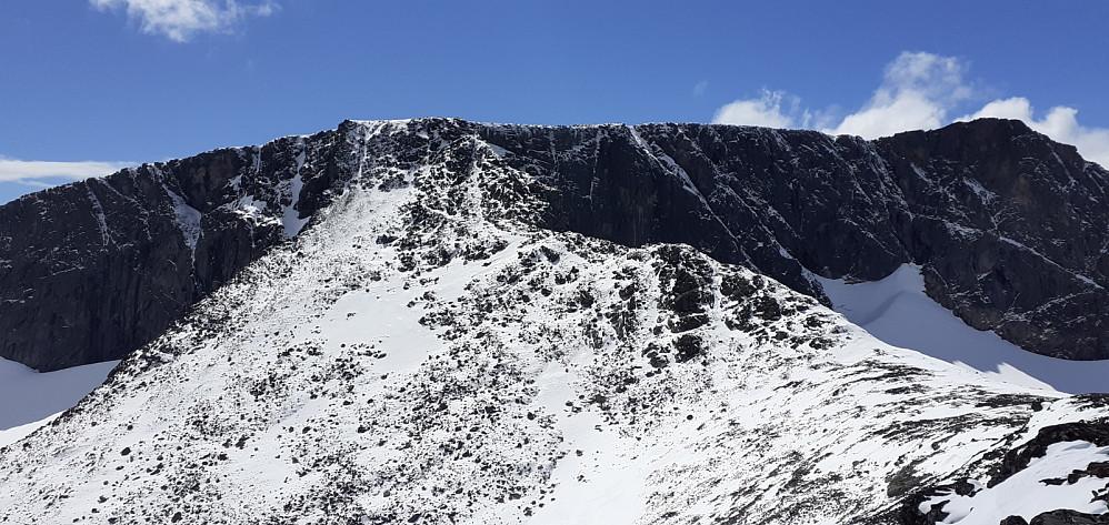 Fra Kvassryggen mot Høgdebråtet. Fine spor i snøen opp hit. Håper det fortsetter