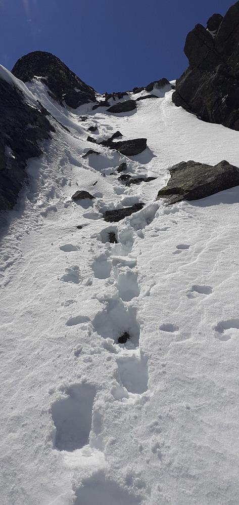 Ihvertfall 4 stk foran meg opp mot Høgdebråtet så var fine spor å følge i snøen