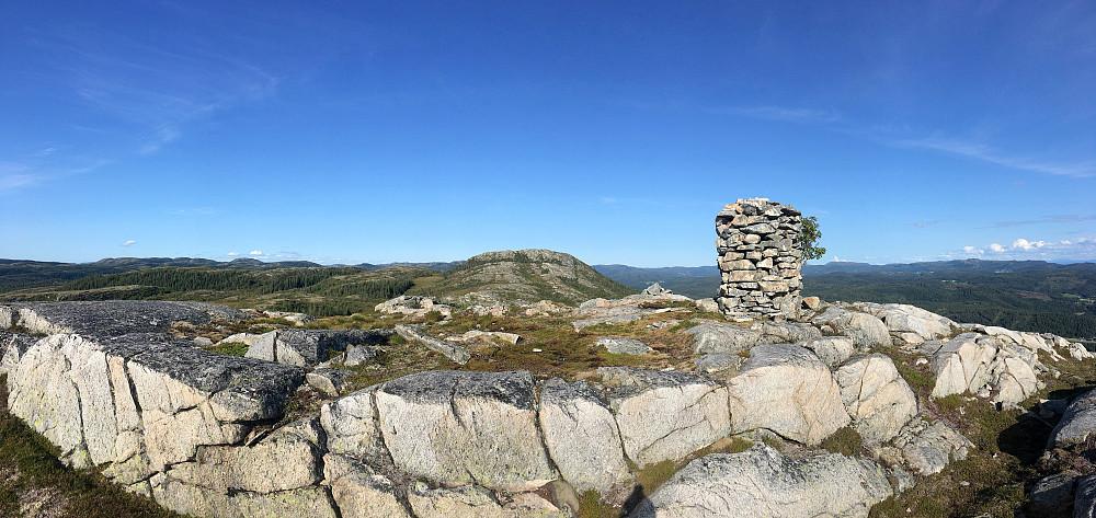 Panorama fra Grytklumpen.
