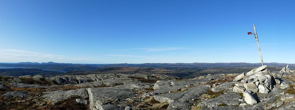 Panorama mot nord..........