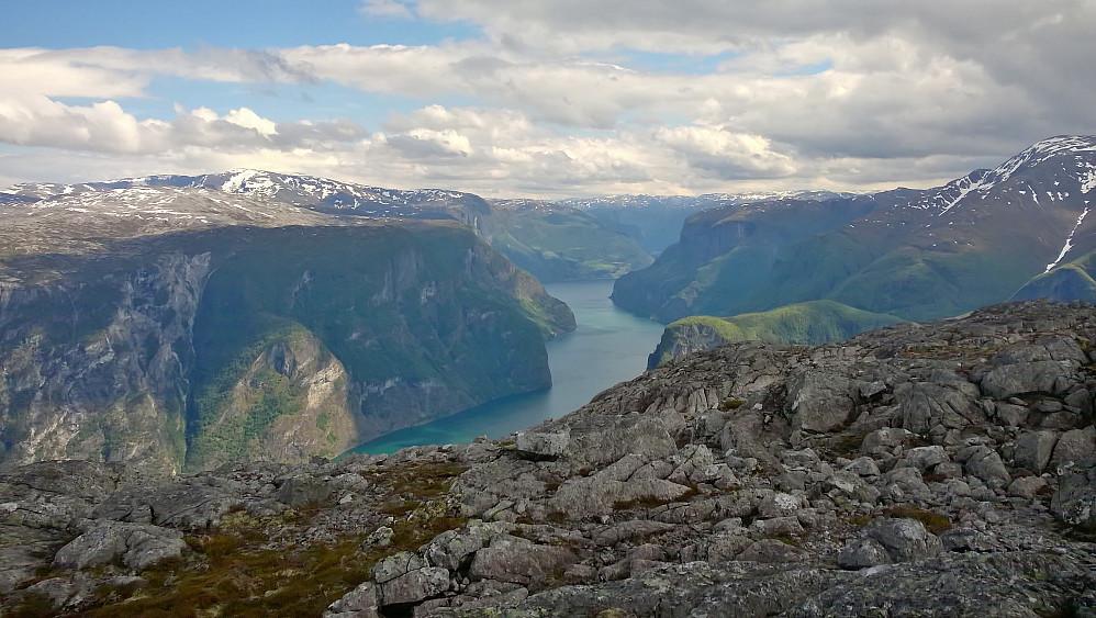 Frå Lægdafjellet mot Nærøyfjorden