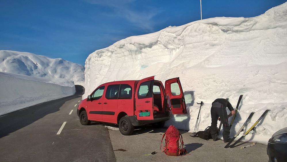 Bra med snø på Gaularfjellet