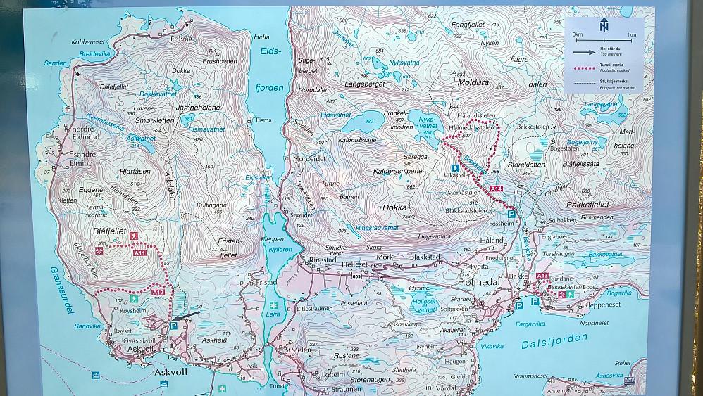 Kart ved turstart