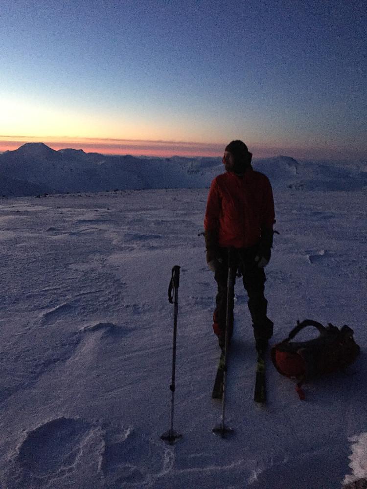Geir Arne på nordtoppen.