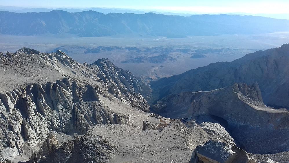 Utsikt mot øst fra Mount Whitney.