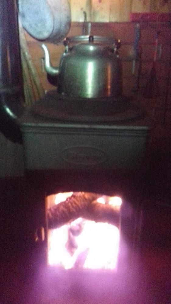 Endelig ovnskos på hytta!