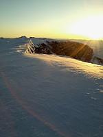 Solnedgang fra Glittertind.