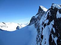 Midtre Hellstugutind tar seg nydelig ut fra nord!