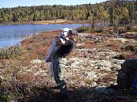 Svein Erik er min nabo og faste turkompis gjennom hele livet. Her med Rime, hans rareste bikkje noensinne, på turen fra Gol til Flå i 2006.