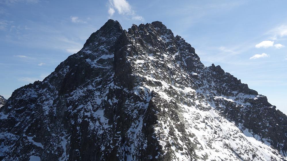 Vysoka ruver godt fra sadelen mellom den og Rysy. Fantastisk flott fjell!