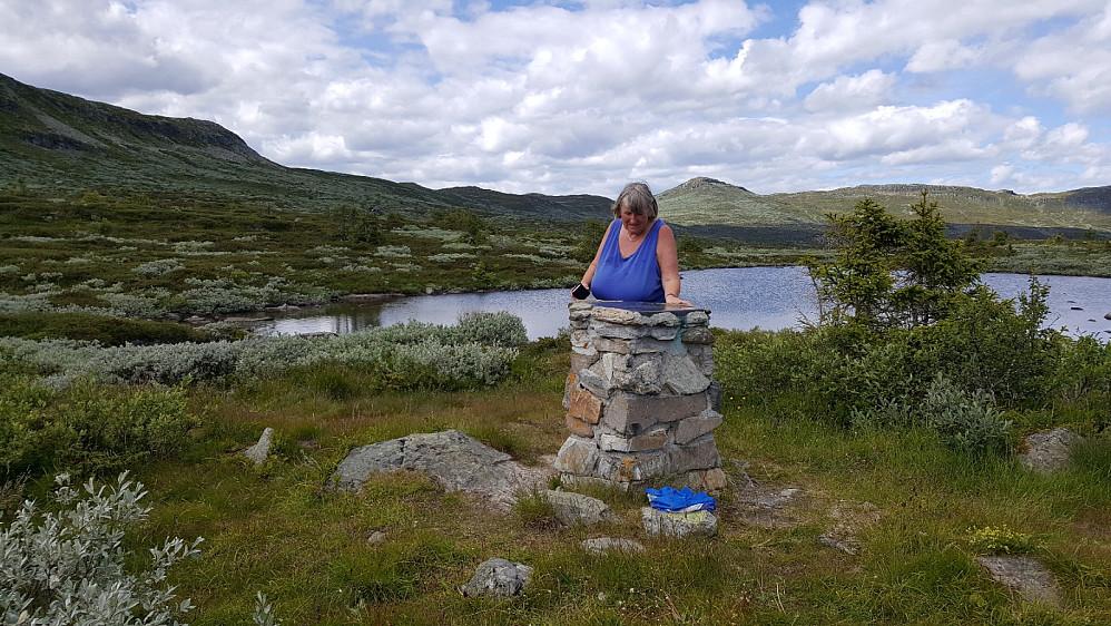 Sigrid ved Torsdalen sikteskive.