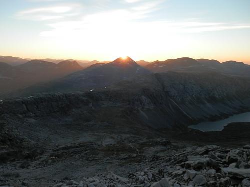 Solnedgang bak Rognnebba.