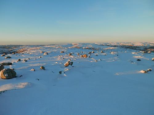 Nord-nordvest mot Nordre Hunnefjell og Stutaheia bak.