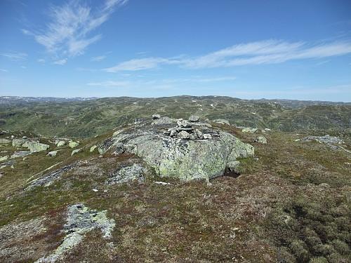 På Urdvassheii trigpunkt (nordtoppen).
