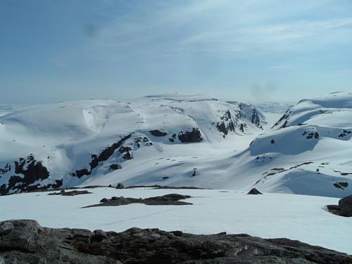 Mot Kamsdalen og Fitjaknuten 1201.