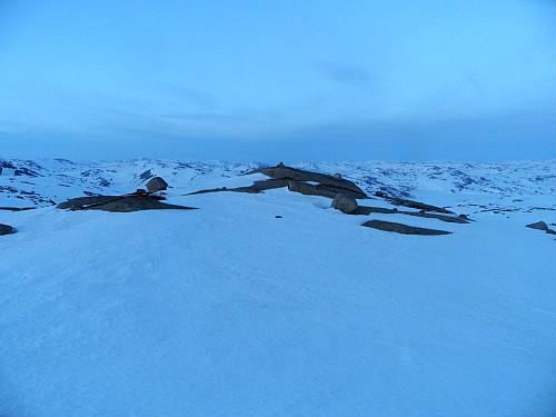 På toppen av Loneknuten der eg ankom litt etter solnedgang.