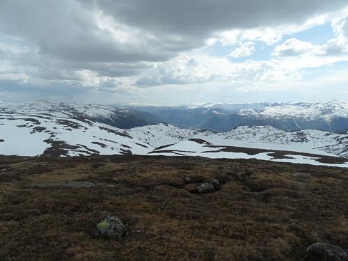 Sørvestover mot Setesdalen.