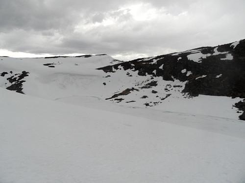 Frå same plass planlegger eg ruta vidare nordover. Runda Røyrvatnet i vestenden t.v.