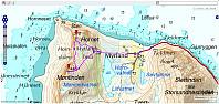 Turen på Myrland. Pga lite strøm måtte eg slå av trackingen tidleg. Da hadde vi gått 3,9 km, 511 hm og i 2 t og 10 min