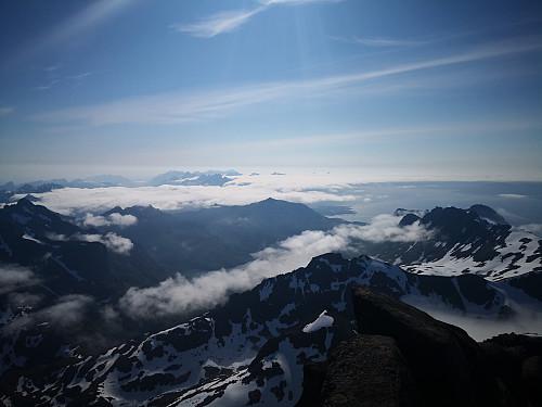Utsikt frå Møysalen; mot Lofoten