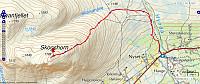 Turen på Skogshorn. 10km - 833hm - 2t 47min
