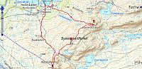 Turen på Systerskardfjellet. 10,5km - 766hm - 4t 8min