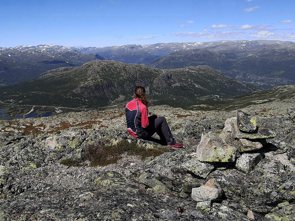 På Systerskardfjellet, med Røgjin bak