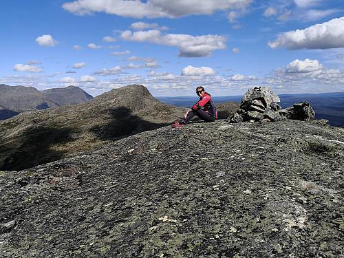 På Hamarskardtoppen, med Totten bak