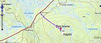 Tur 3: Den Brune høgda. 3,4 km - 119 hm - 55 min