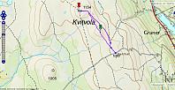 Tur 2: Kvitvolaknappen. 6,5 km - 165 - hm - 1 t 45 min