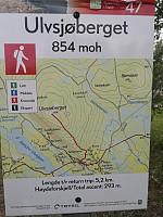 Tur 4: Ulvsjøberget. 4,8 km (0,4 kortere enn ibeskrivelsen) - 293 hm - 1 t 5 min