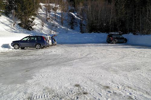 Støle parkeringsplass.