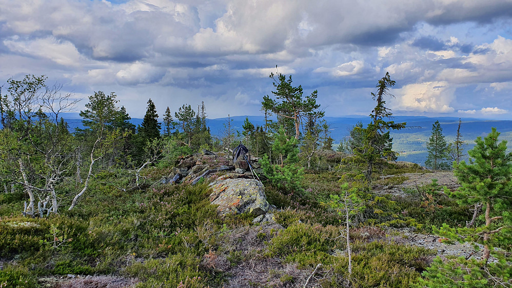 Utsikt nordover fra toppen av Åslandåsen (680).