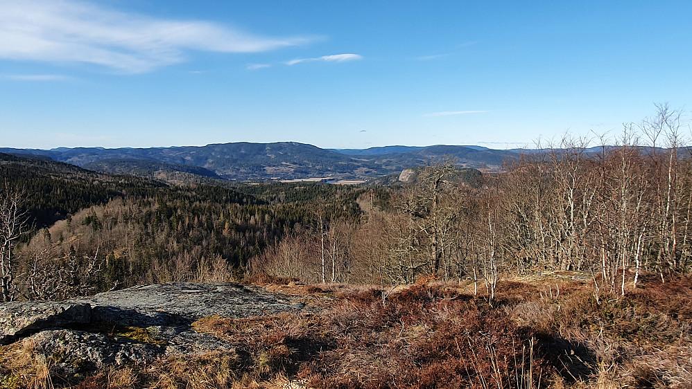 Utsikt mot sørvest fra Høymyrpynt.