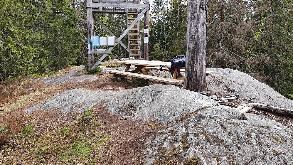 På toppen av Vardehøgda (360).