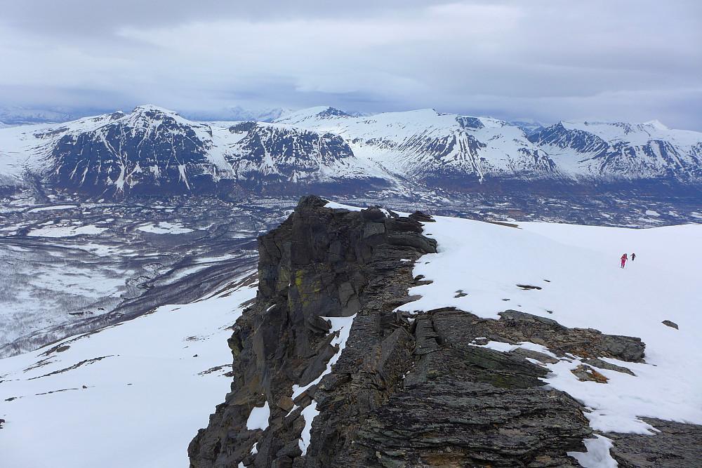 Utsikt mot Finnheimfjellet på nordsiden av Breivikeidet